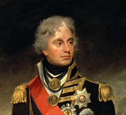 Sash Painting Acrylic Prints - Horatio Viscount Nelson Acrylic Print by Sir William Beechey