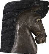 Greek Sculpture Paintings - Horse Head by Kurt Olson