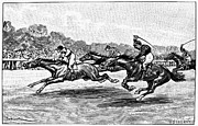 Ambition Prints - Horse Racing, 1900 Print by Granger