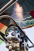 Extreme Sport Posters - Hot Air Balloon Gas Burner Poster by Photostock-israel