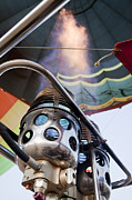 Extreme Sport Posters - Hot air balloon gas burner  Poster by Shay Velich