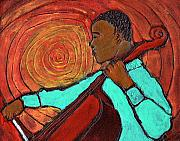 Black Art Paintings - Hot Jazz by Wayne Potrafka