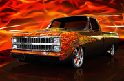 Hot Rod Flames Posters - Hot Rod Chevrolet Scotsdale 1978 Poster by Oleksiy Maksymenko