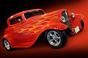 Hot Rod Flames Posters - Hot Rod Ford Coupe 1932 Poster by Oleksiy Maksymenko