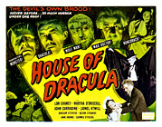 Wolfman Framed Prints - House Of Dracula, Glenn Strange, John Framed Print by Everett