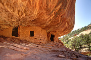 Blanding Prints - House on Fire Anasazi Indian Ruins Print by Gary Whitton