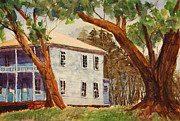 Live Oak Trees Paintings - House on Front Street by Barry Jones