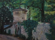 Old House Pastels Prints - Houte Savoie France Print by Leonor Thornton