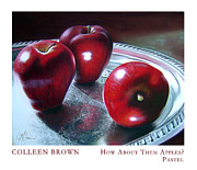Botanical Pastels Originals - How About Them Apples by Colleen Brown