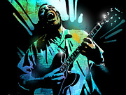 Singer  Paintings - Howlin Wolf by Paul Sachtleben