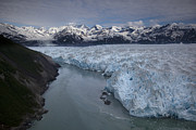 Mountain Art - Hubbard Glacier Encroaching On Gilbert by Matthias Breiter