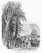 River Of Life Prints - Hudson River, 1609 Print by Granger