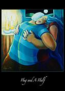 Freedom Paintings - Hug and A Half by Angela Treat Lyon