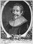 Hugo Framed Prints - Hugo Grotius (1583-1645) Framed Print by Granger
