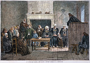 Preacher Prints - Huguenot Assembly, 1685 Print by Granger