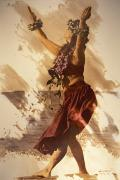 Hand Tinted Posters - Hula On The Beach Poster by Himani - Printscapes
