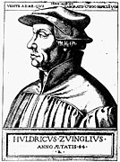 Reformer Photos - Huldreich Zwingli by Granger