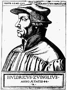 Huldreich Zwingli Print by Granger