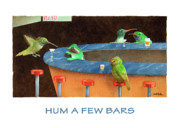 Hummingbird Paintings - Hum A Few Bars... by Will Bullas