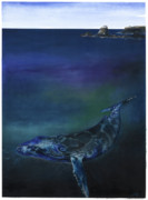 African-american Mixed Media - Humpback Whale by Anthony Burks