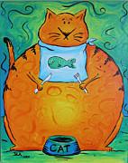 Hungry Cat Print by Jennifer Alvarez