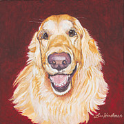 Www.lisahershman.com Framed Prints - Hunter the Golden Retriever Framed Print by Lisa Hershman