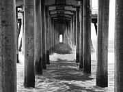 Huntington Prints - Huntington Pier 1 Print by John Gusky