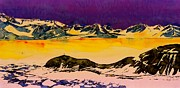 Mountain Tapestries - Textiles Prints - Hut Point Antarctica Print by Carolyn Doe
