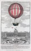 Jacques Framed Prints - Hydrogen Balloon, 1783 Framed Print by Granger