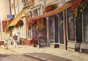 Hanging Baskets Paintings - Hythe High street by Beatrice Cloake