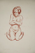 Nudes Drawings Originals - I Dont Want to Model by Noah Park