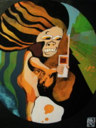 Shock Painting Originals - I hate cell phone by Arisa Niwa