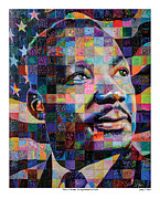 Martin Luther King Jr. Paintings - I have a Dream An Experiment in Color by Jerry T Price