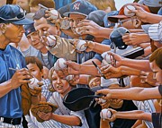 Baseball Art Painting Originals - I Owe You by Curtis James