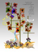 Fantasy Tree Art Print Digital Art Posters - I saw fall today Poster by Gary Kennedy