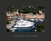 Portofino Italy Prints - I Visualize What I Want Print by Donna Corless