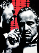 The Godfather Painting Framed Prints - I Want You To Kill him Framed Print by Luis Ludzska