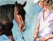 Mustang Paintings - I Will Follow You by Linda L Martin