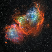 Starfield Posters - Ic 1848, The Soul Nebula Poster by Rolf Geissinger