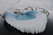 Topography Photos - Iceberg Swimming Pool, Antarctica by Mathieu Meur