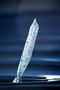 Blue Water Art - Icicle in reverse by Christine Till