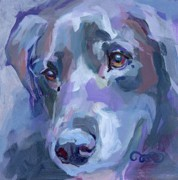 Soulful Eyes Paintings - Ike by Kimberly Santini