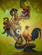 Gamefowl Paintings - Ilahas by Edbon Sevilleno