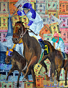Kentucky Derby Mixed Media - Ill Have Another Wins by Michael Lee
