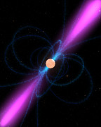 Radiating Light Digital Art - Illustration Of A Pulsar by Stocktrek Images