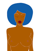 Naked Drawings Posters - Illustration of a woman Poster by Frank Tschakert
