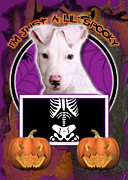 Puppies Digital Art - Im Just a Lil Spooky Pitbull  by Renae Frankz