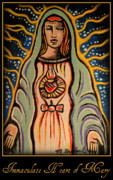Virgin Mary Painting Originals - Immaculate Heart of Mary by Melissa Wyatt