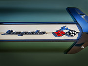 Checker Flag Framed Prints - Impala Brightwork Framed Print by Douglas Pittman