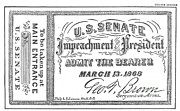Ticket Posters - Impeachment Ticket, 1868 Poster by Photo Researchers